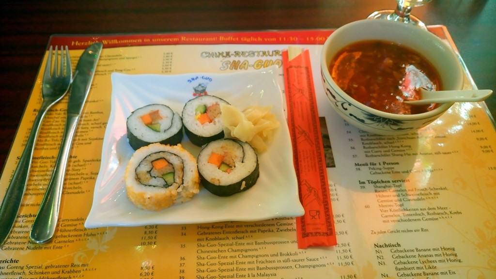 Sushi im Sha-Guo Restaurant Aschersleben