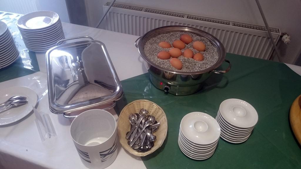Frische Eier zum Frühstück