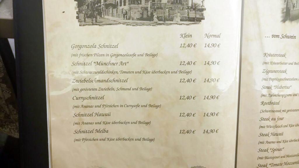 Restaurant Kassner Speisekarte & Preise