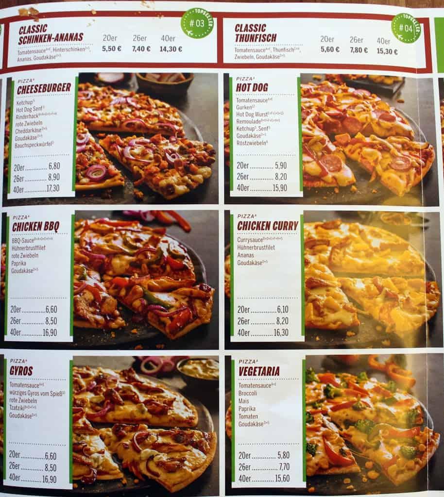 Flying Pizza Aschersleben Speisekarte